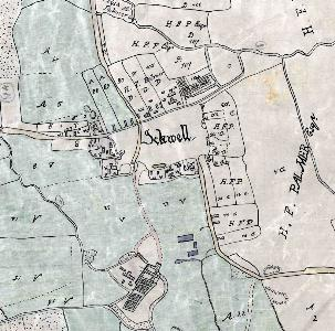 Ickwell on the Northill inclosure map of 1783 [MA2]
